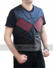 Mens Stefan Kapicic Deadpool Leather Vest