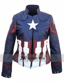 Civil War Captain America Jacket for Women
