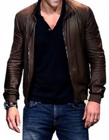 Ryan Reynolds Brown Leather Jacket