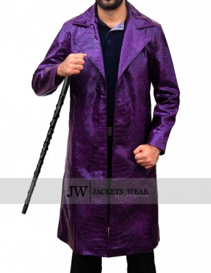 Suicide Squad Jared Leto Joker Crocodile Coat
